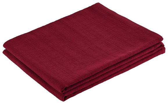 Überwurf Solid One Rot 140x210 cm - Rot, Textil (140/210cm)