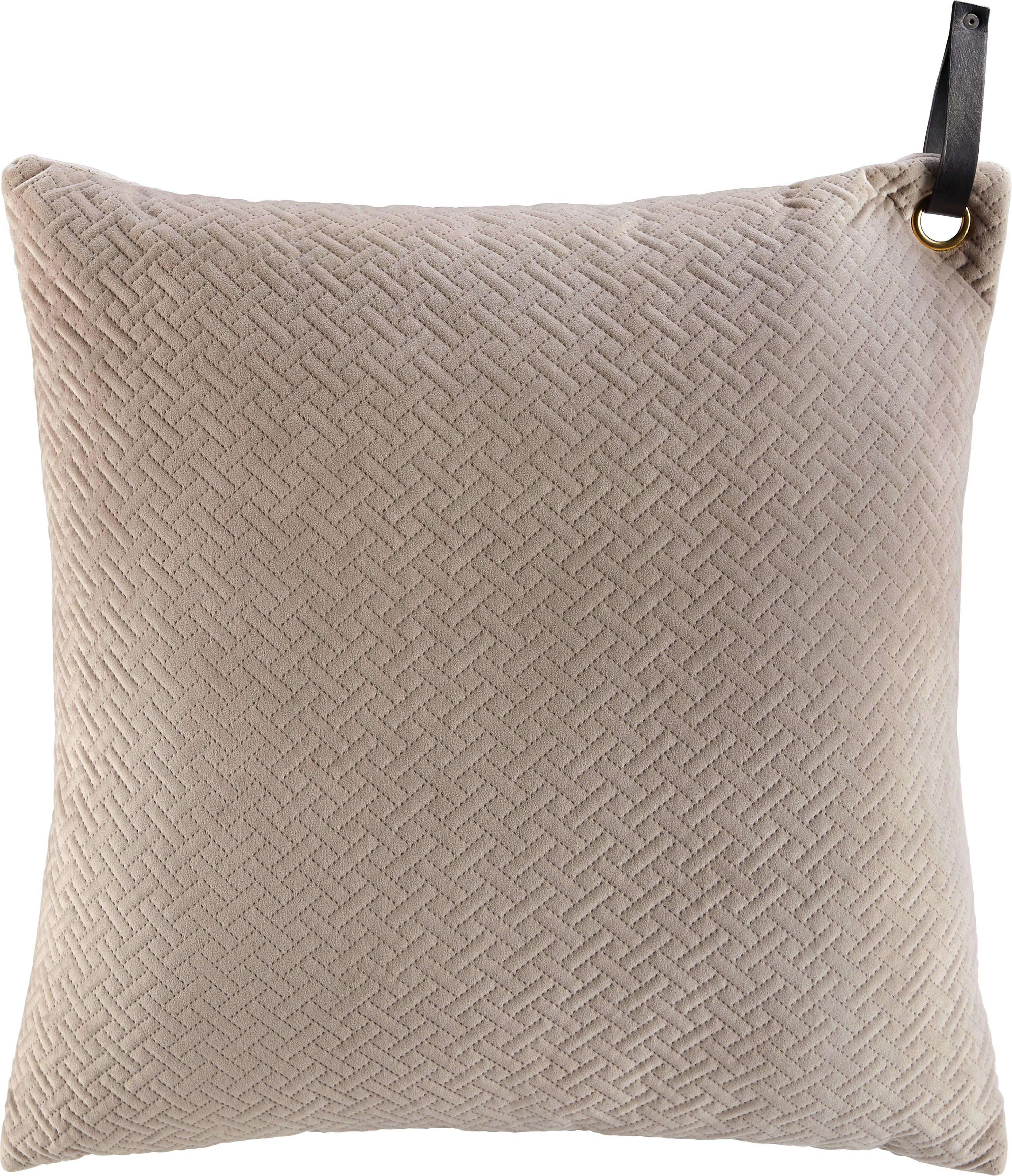 Díszpárna Stefanie - bézs, modern, textil (60/60cm) - premium living