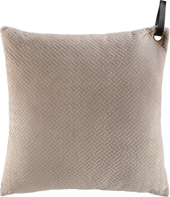 Zierkissen Big Stefanie, ca. 60x60cm - Beige, MODERN, Textil (60/60cm) - Premium Living