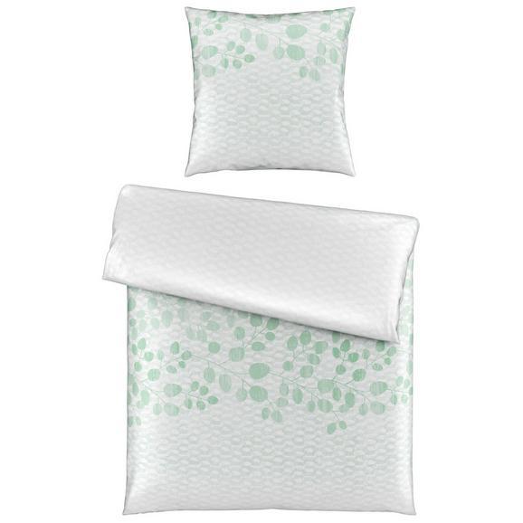 Bettwäsche Sandy in Weiß ca. 135x200cm - Weiß/Grün, MODERN, Textil (135/200cm) - Premium Living