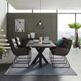 Jedilna Miza Luzern Ca. 160-210x90 Cm - Moderno, leseni material (160-210/75/90cm) - Modern Living