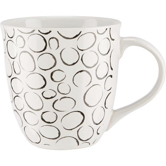 Ceașcă Jumbo Bubble - alb/negru, ceramică (10,8/11,2cm) - Modern Living