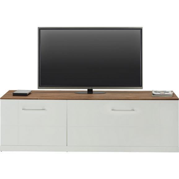 TV-Element in Weiß Hochglanz - Weiß, MODERN, Holz (160/49/50cm) - Premium Living