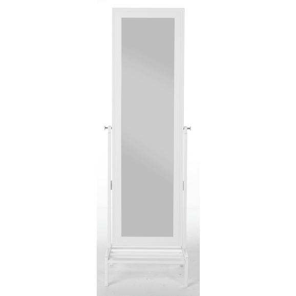Standspiegel ca. 50x170x50cm - Weiß, ROMANTIK / LANDHAUS, Holz (50/169.5/50cm) - Zandiara