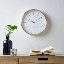 Uhr Rena ca.ø29,6cm - Goldfarben/Weiß, MODERN, Glas/Metall (29,6cm) - Mömax modern living