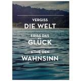Postkarte Statements in Dunkelgrün - Dunkelgrün, Papier (10,5/14,8cm) - VS Visual Statements