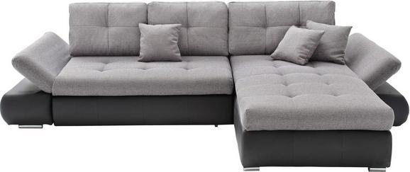 Sedežna Garnitura Enrico - črna/siva, Moderno, tekstil (303/185cm) - Mömax modern living
