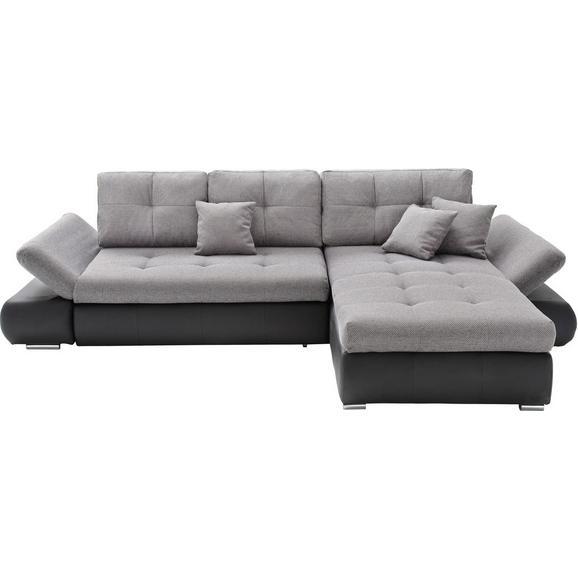 Sedežna Garnitura Enrico - siva/črna, Moderno, tekstil (303/185cm) - Mömax modern living