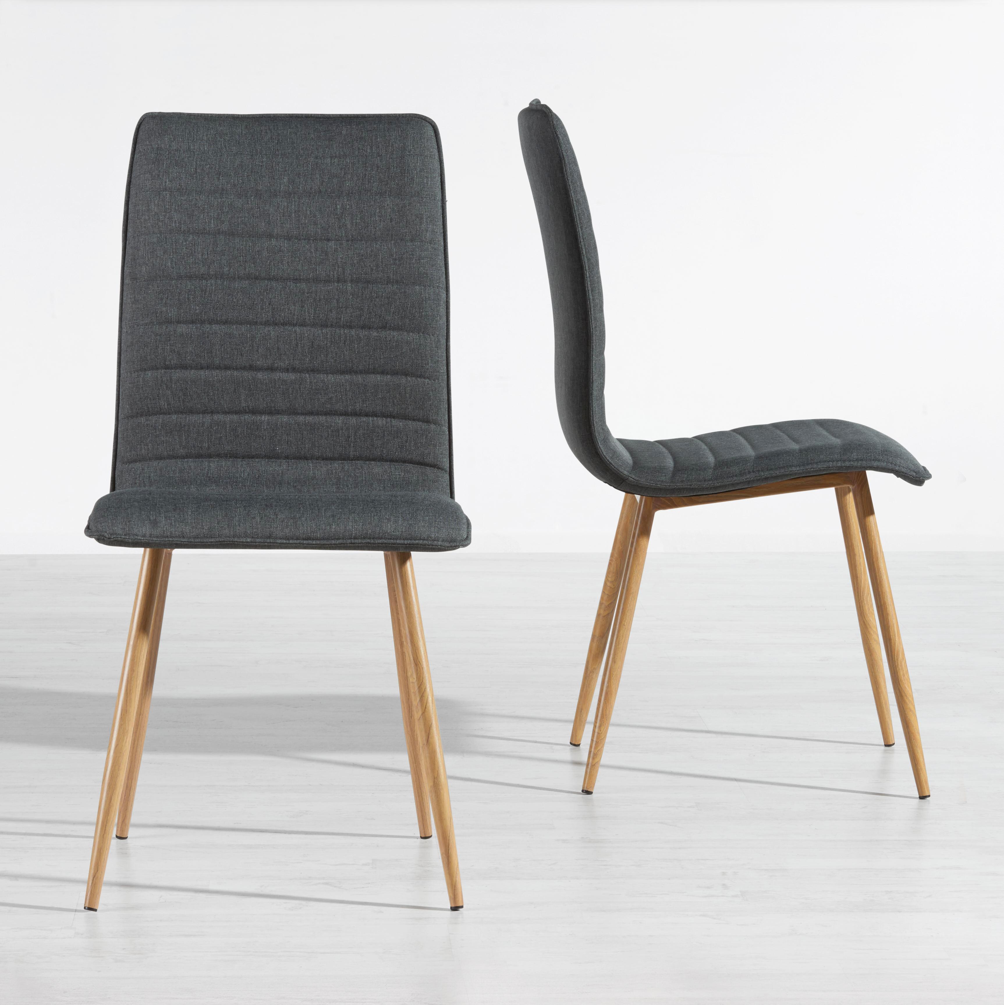 Stuhl Milena - Dunkelgrau, MODERN, Kunststoff/Textil (45/91/56,5cm) - MÖMAX modern living