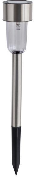Solarleuchte Carlo max. 0,06 Watt - Edelstahlfarben, Kunststoff/Metall (29,5cm) - Mömax modern living