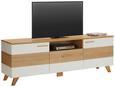 TV-Element Weiß/Eichefarben - Eichefarben/Weiß, LIFESTYLE, Holz/Holzwerkstoff (180/61/44cm) - Mömax modern living