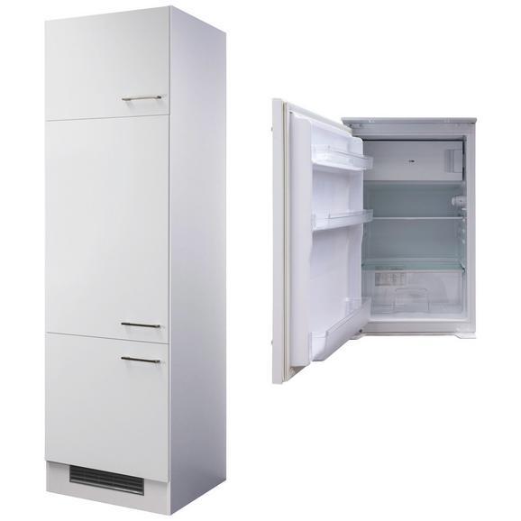 Geräteumbauschrank Weiß - Edelstahlfarben/Weiß, MODERN, Holzwerkstoff/Metall (60/200/57cm) - FlexWell.ai