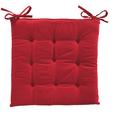 Pernă Şezut Lola - roșu, textil (40/40/2cm) - Based