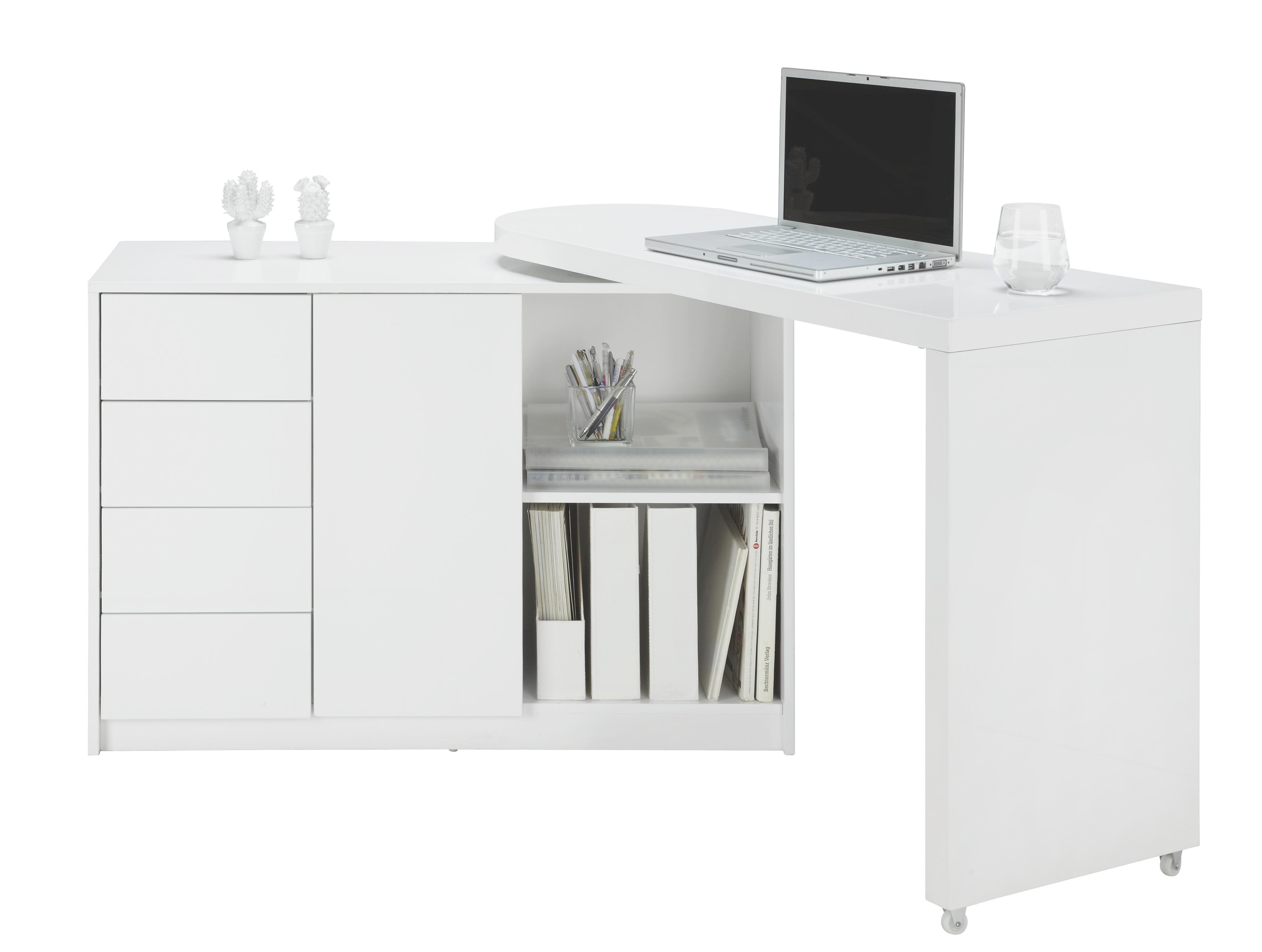 Kommode in Weiß Hochglanz - Weiß, MODERN, Holzwerkstoff/Kunststoff (166/77/42cm) - MÖMAX modern living