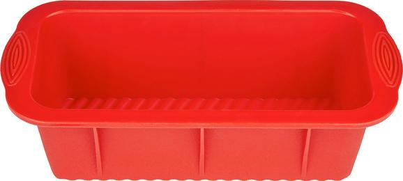 Kastenform Silke in Rot aus Silikon - Rot, Kunststoff (25,5/12,7/7,7cm) - MÖMAX modern living