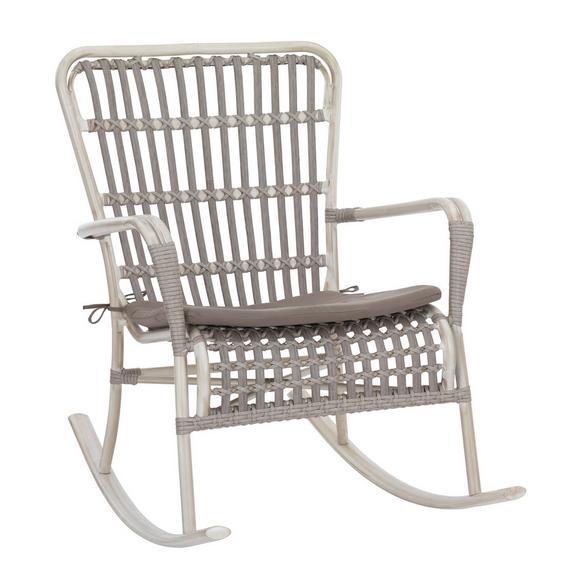 schaukelstuhl modern sofia in grau kunststoff textil 69 100