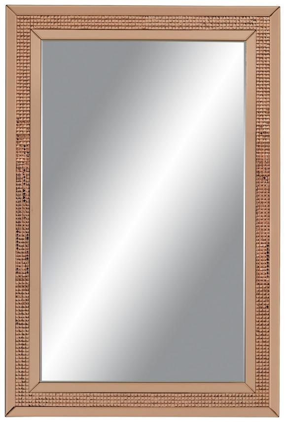 Stensko Ogledalo Faro - roza/zlata, Moderno, steklo/leseni material (120/80/2cm) - Mömax modern living