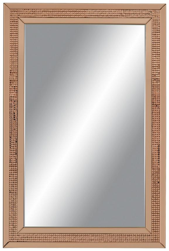 Wandspiegel in Rosa/gold ca. 120x80cm - Goldfarben/Rosa, MODERN, Glas/Holzwerkstoff (120/80/2cm) - PREMIUM LIVING