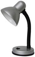 Schreibtischleuchte Leona, max. 40 Watt - Silberfarben, Kunststoff/Metall (12,5/34/18,5cm) - Based