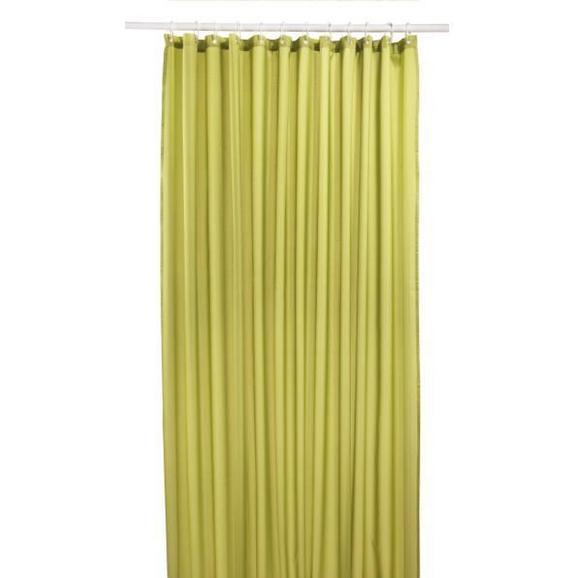 Zavjesa Za Tuš Uni - zelena, tekstil (180/200cm) - Mömax modern living