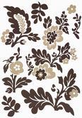 Dekosticker Blumen Braun/beige - Beige/Braun, Kunststoff (50/70cm) - Mömax modern living