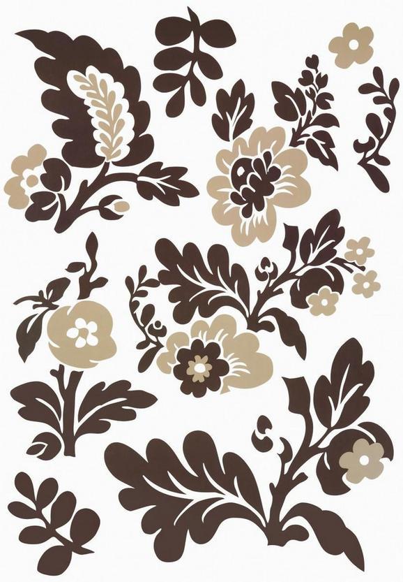 Dekosticker Blumen in Braun/Beige - Beige/Braun, Kunststoff (50/70cm) - MÖMAX modern living