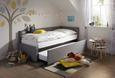 Ausziehbett in Hellgrau, ca. 218x44x104cm - Hellgrau, KONVENTIONELL, Holzwerkstoff/Textil (218/44/104cm) - Premium Living