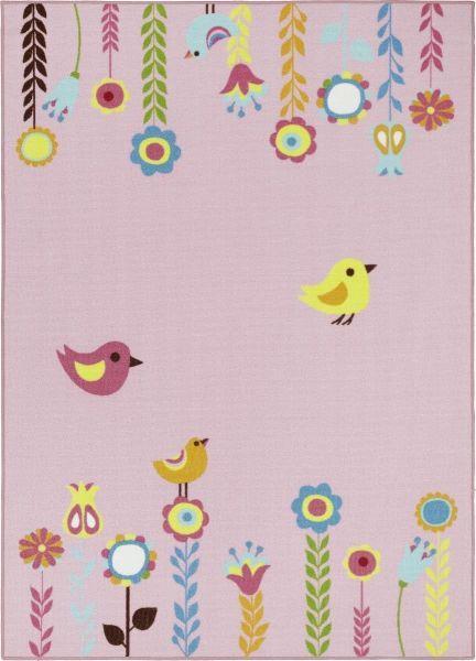 Teppich Flower in Rosa, ca. 100x150cm - Rosa, Textil (100/150cm) - MÖMAX modern living