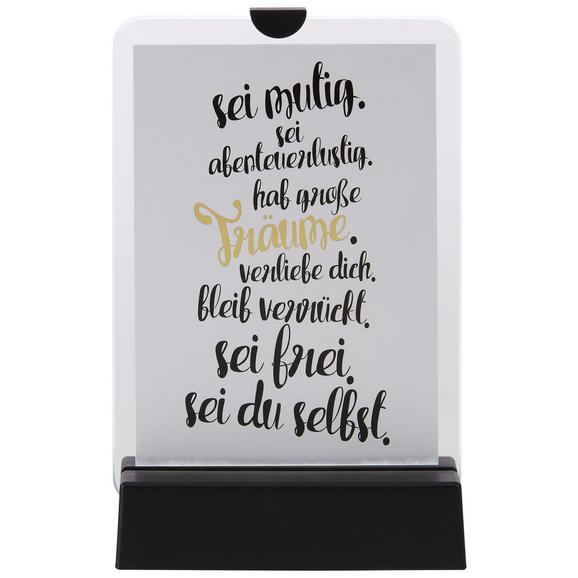 Bilderrahmen Sunny in Schwarz inkl. Led - Schwarz, Glas/Kunststoff (18,9/12,1/4,5cm) - Mömax modern living