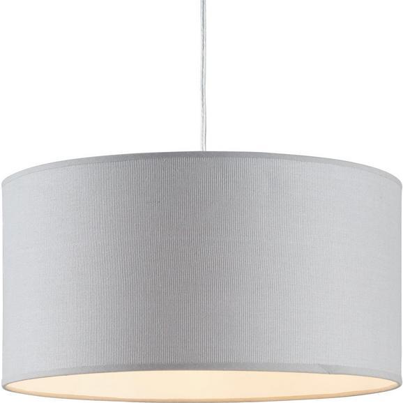 Leuchtenschirm Arno max. 60 Watt - Grau, Textil/Metall (40/40/20cm) - Mömax modern living