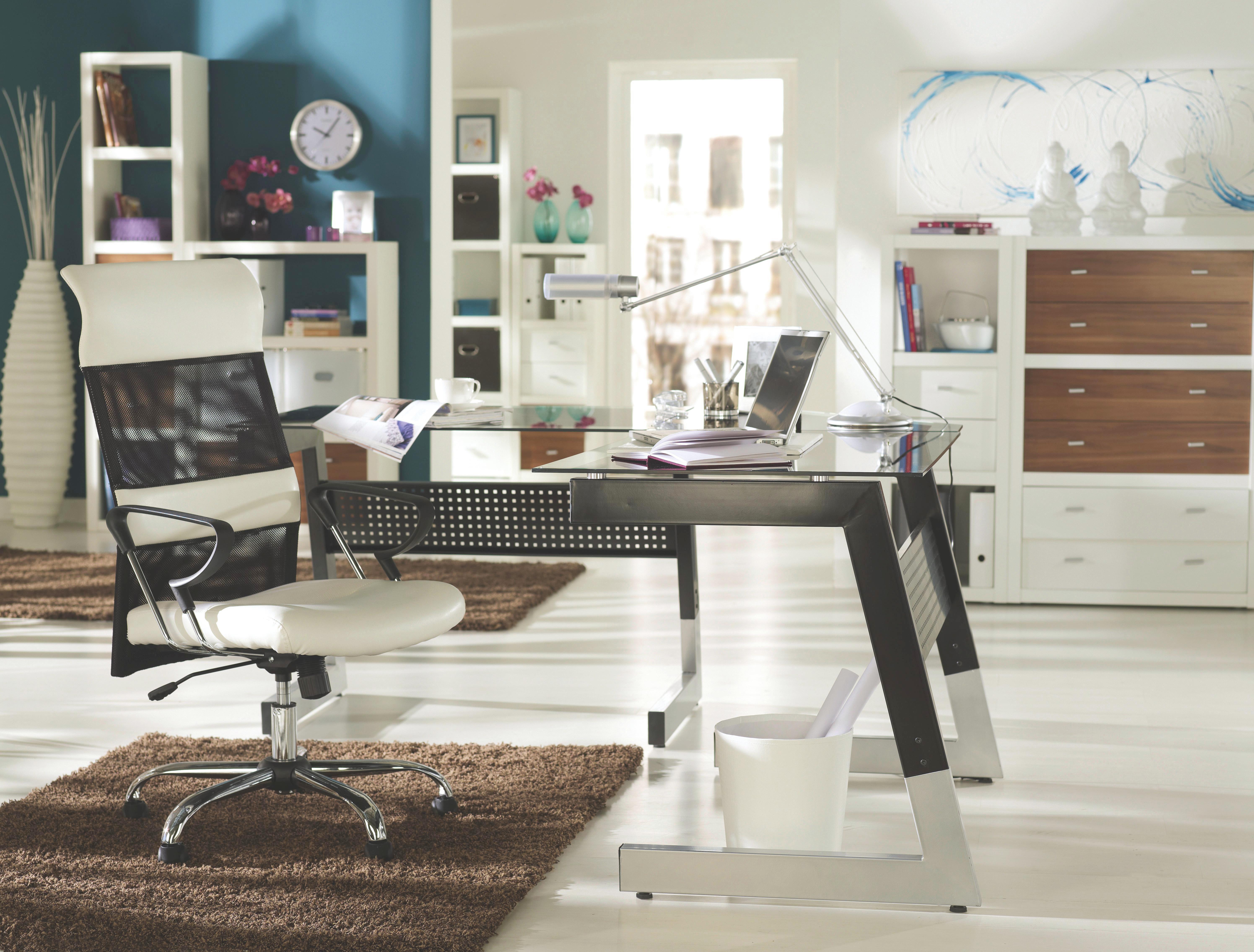 Raumteiler in Weiß matt - Alufarben/Weiß, MODERN, Holzwerkstoff/Kunststoff (123/124,5/35cm) - MÖMAX modern living