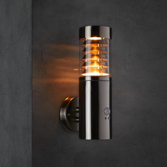 Außenleuchte max. 20 Watt mit Bewegungsmelder 'Dorry' - Edelstahlfarben, MODERN, Metall (15,1/10,1/34cm) - Bessagi Garden