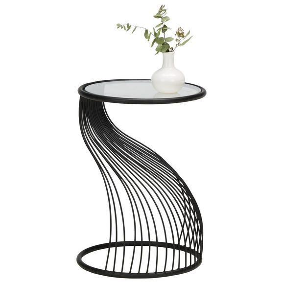 Beistelltisch in Schwarz - Schwarz, MODERN, Glas/Metall (38/53cm) - Modern Living