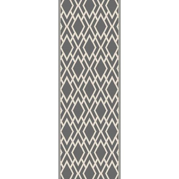 Flachwebeteppich Edgar Creme/Silber 80x200cm - Silberfarben/Creme, MODERN, Textil (80/200cm) - Mömax modern living