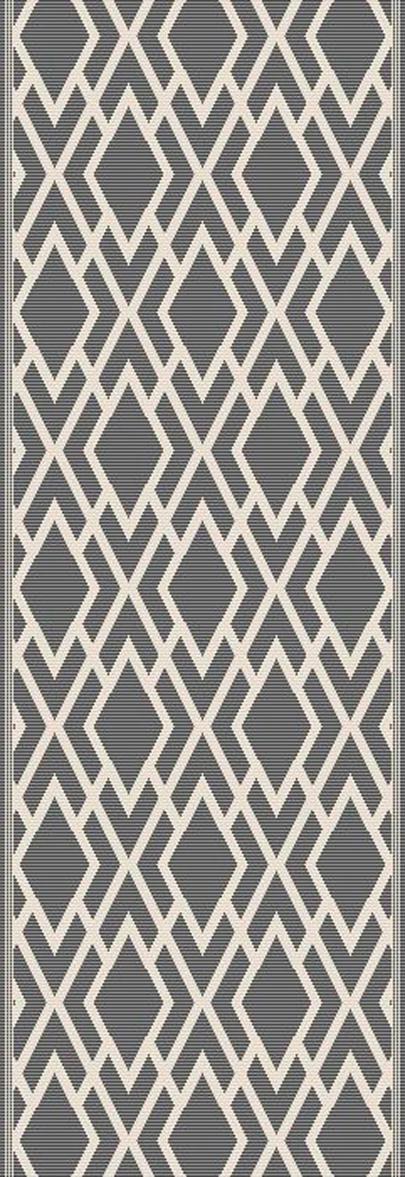 Ravno Tkana Preproga Edgar 1 - srebrna/krem, Moderno, tekstil (80/200cm) - Mömax modern living