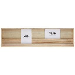 Cliprahmen Simply in verschiedenen Farben - ROMANTIK / LANDHAUS, Holz/Holzwerkstoff (70/18/4cm)
