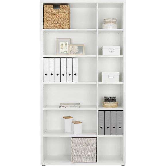 Regal in Weiß - Alufarben/Weiß, MODERN, Holzwerkstoff/Kunststoff (113/220/37cm) - Premium Living