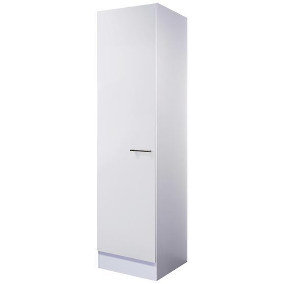 Geschirrschrank Weiß - Edelstahlfarben/Weiß, MODERN, Holzwerkstoff/Metall (50/200/57cm) - FlexWell.ai