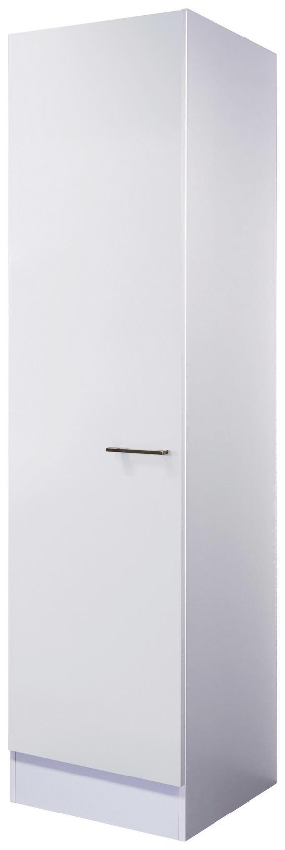 Geschirrschrank Weiß - Edelstahlfarben/Weiß, MODERN, Holzwerkstoff/Metall (50/200/57cm)