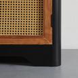 SIDEBOARD in Kiefer 'Travis' - Schwarz/Bronzefarben, MODERN, Holz/Metall (120/79/40cm) - Bessagi Home