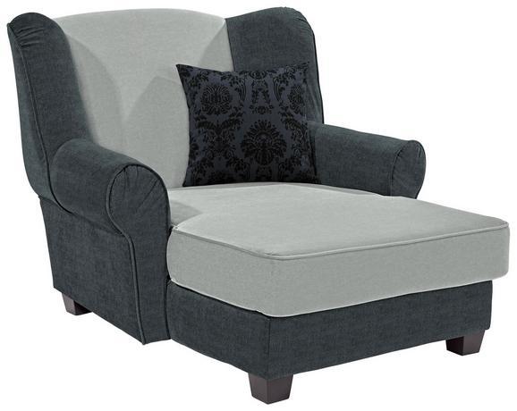 Fotelja Living - tamno siva/svijetlo siva, MODERN, drvo/tekstil (120/98/138cm)