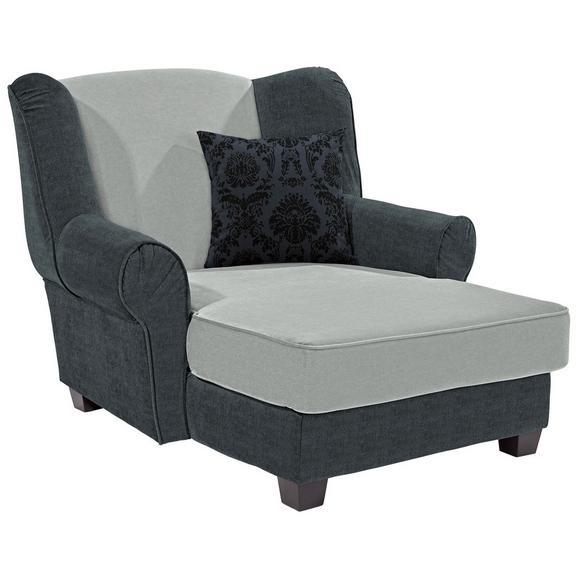 Fotelja Living - tamno siva/svijetlo siva, Romantik / Landhaus, drvo/tekstil (120/98/138cm)