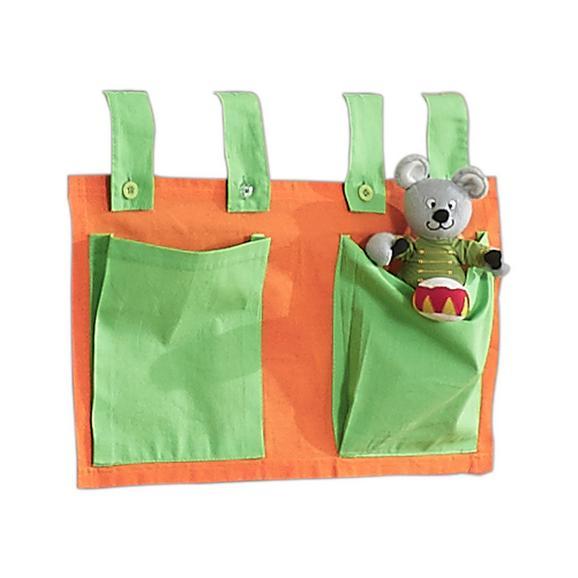 Betttasche Stofftasche - Orange/Grün, Design, Textil