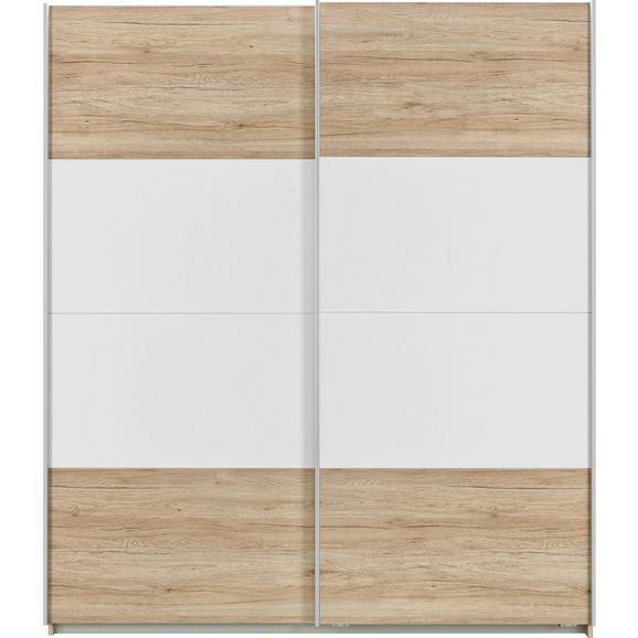 Schwebetürenschrank Braun/Weiß online kaufen ➤ mömax