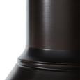 Pendelleuchte Victor - Braun/Weiß, MODERN, Metall (47/47/120cm) - Bessagi Home