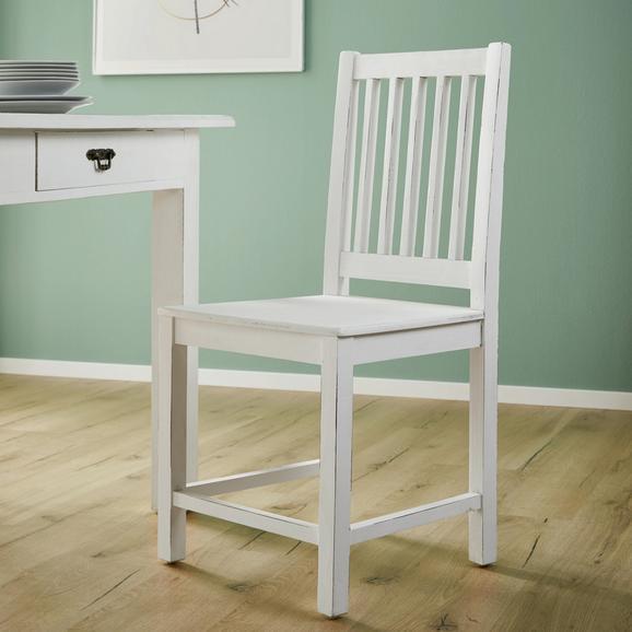 STUHL in Weiß 'Lewis Vintage' - Weiß, MODERN, Holz (45/90/42cm) - Bessagi Home