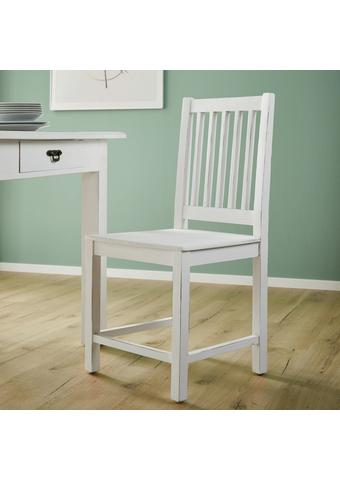 Stuhl Lewis Vintage - Weiß, MODERN, Holz (45/90/42cm) - Bessagi Home