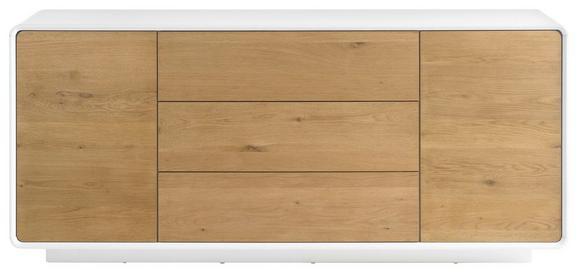 Sideboard in Weiß/Eichefarben - Eichefarben/Weiß, MODERN, Holz/Holzwerkstoff (170/76/40cm) - PREMIUM LIVING