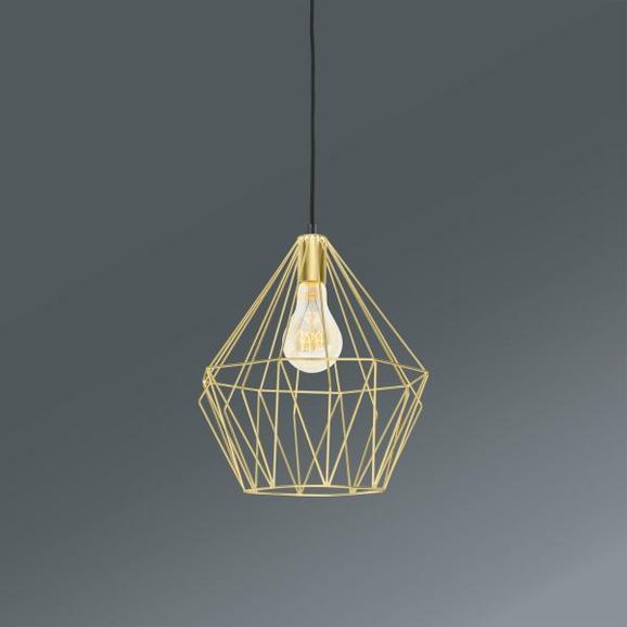 Viseča Svetilka Skeletton - zlata, kovina (30/110cm) - Mömax modern living
