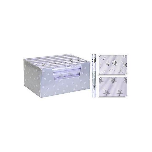 Ajándékcsomagoló Papír 767530110 - Ezüst, Műanyag (36,5/200cm)